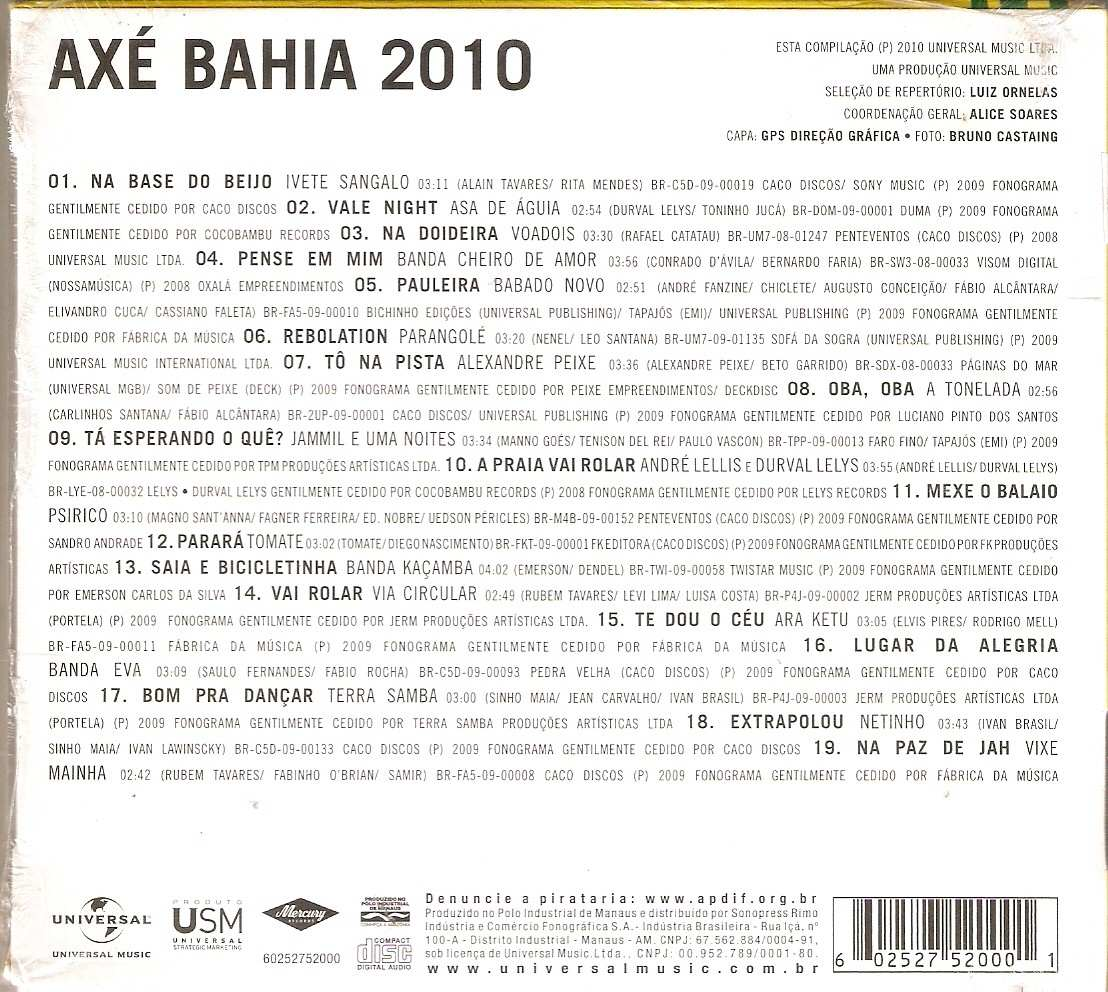 cd axe bahia 2010