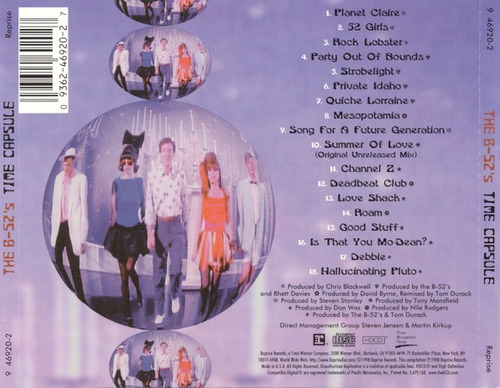 cd b-52's time capsule songs future generation ( made usa )