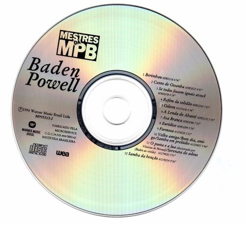 cd - baden powell - mestres da mpb