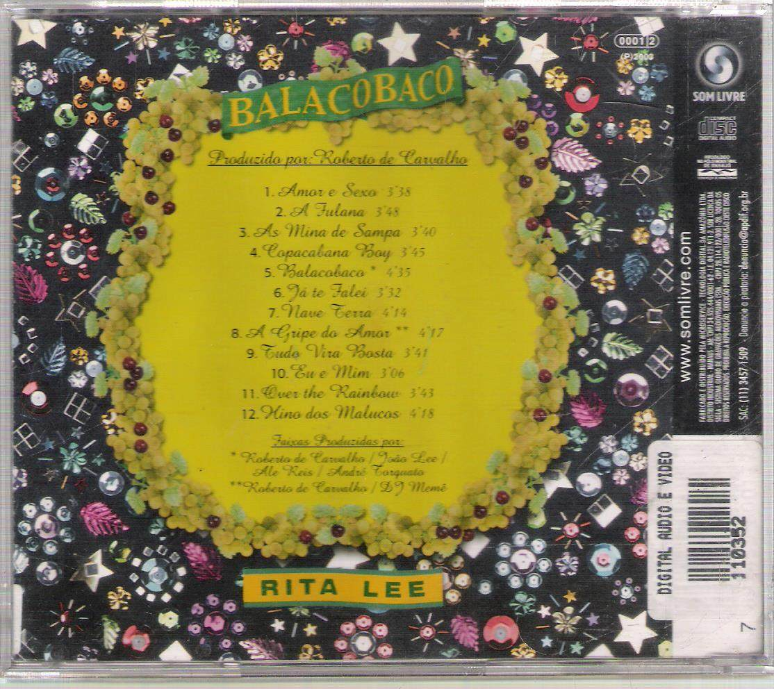 cd balacobaco rita lee