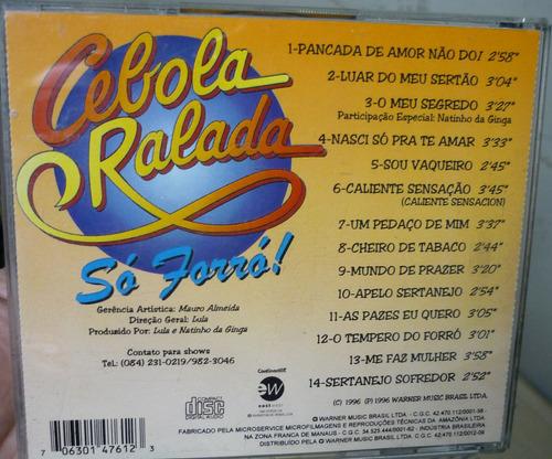 cd  banda cebola ralada - o tempero do forro - b305