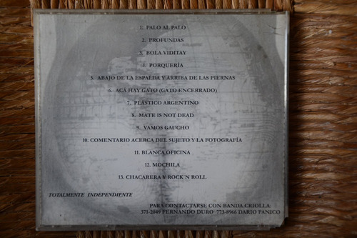 cd banda criolla: ¡mate is not dead!