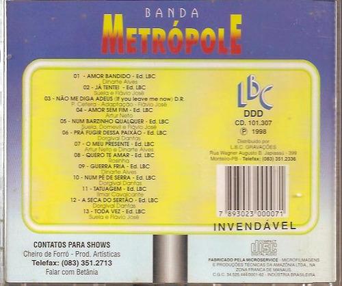 cd banda metrópole raridade usado cod 341