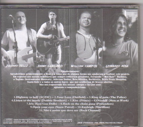 cd banda rock channel, highway to hell e outras, original