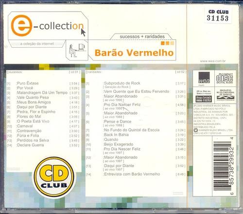 cd barão vermelho e-collection sucessos+raridades - 2000