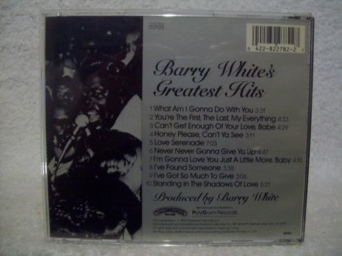 cd barry white- greatest hits- importado (estados unidos)
