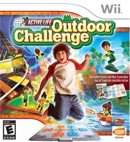 cd + base original wii outdoor chalenge. juego completo
