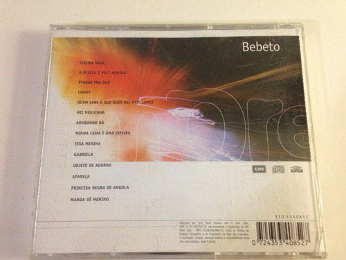 cd bebeto coletânea para sempre impecavel mpb samba r$26