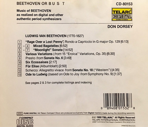 cd beethoven or bust importado