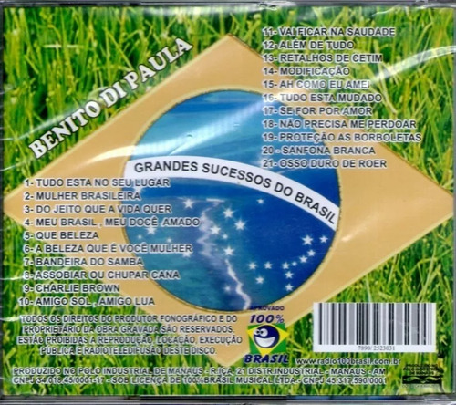 cd benito  di paula* grandes sucessos do brasil