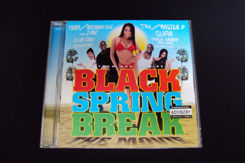 cd  black spring break    movie soundrack  (raro)