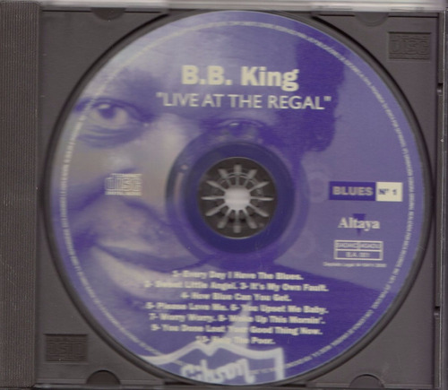 cd blues b b king live at the regal excelente altaya 1996