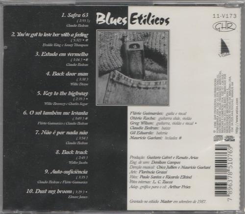 cd blues etílicos - 1987 - lacrado