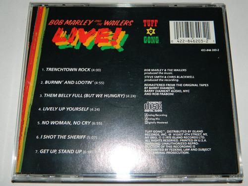 cd bob marley and the wailers live