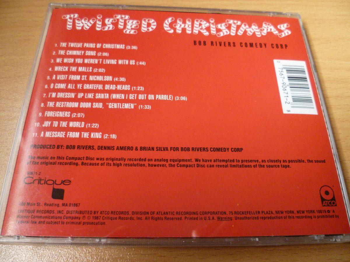 Bob Rivers Twisted Christmas.Cd Bob Rivers Comedy Corp Twisted Christmas Top Music S 15 00