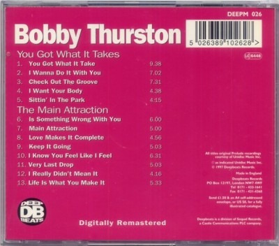 cd bobby thurston - you got what it../ the main attrac.(imp)