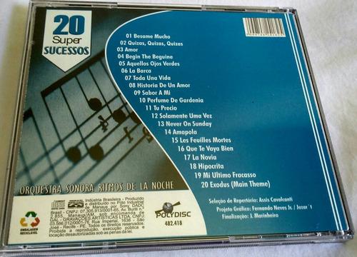 cd boleros orquestra sonora ritmos de la noche