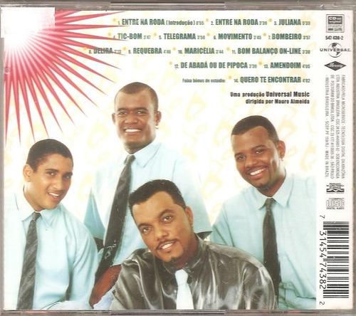 cd bom balanco - ao vivo ( axe music samba reggae) - novo