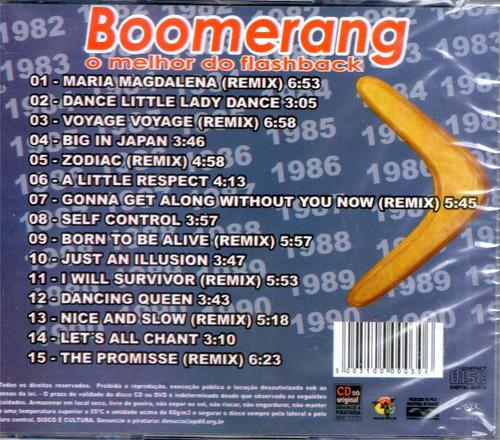 cd boomerang o melhor do flashback original + frete grátis