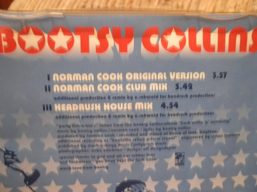 cd bootsy collins party lick-a-ble's 3 faixas importado