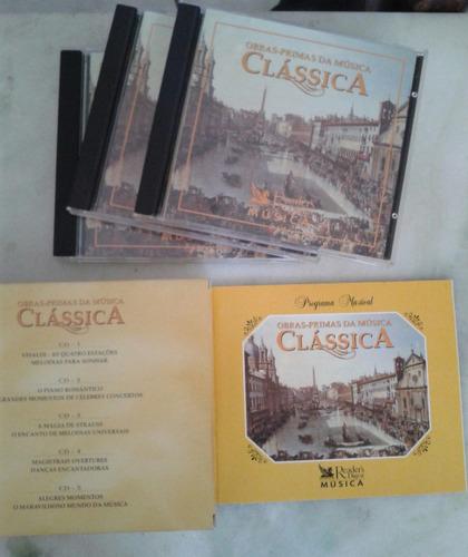 cd box obras primas da música clássica - 5 cd's