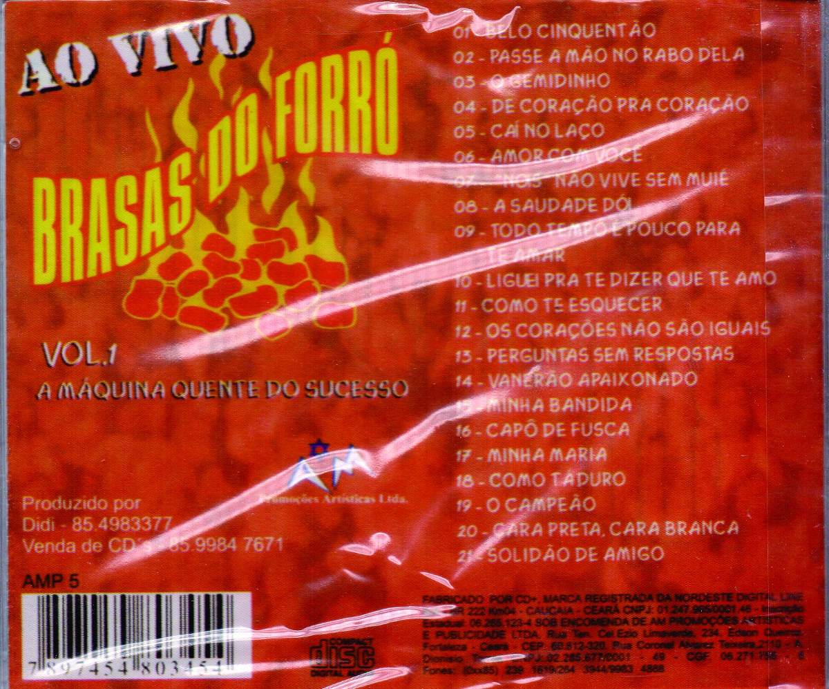 cd brasas do forro vol 1