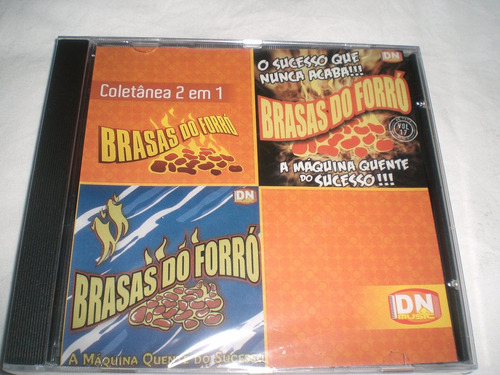 cd brasas do forró(coletânea 2 em 1)novo/lacrado-frete5,00