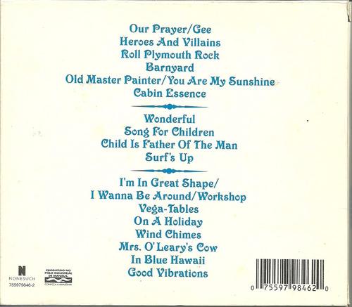 cd brian wilson - presents smile - 2004 - luva + livreto