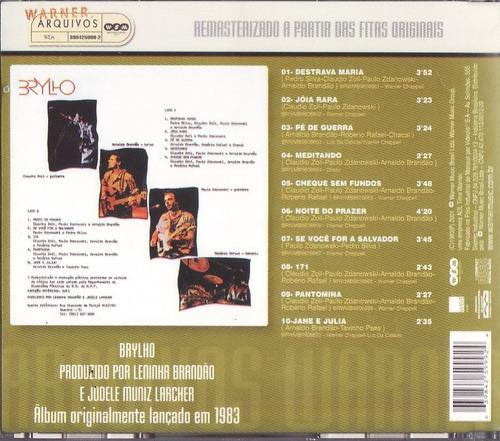 cd-brylho-noite do prazer-remasterizado-em otimo estado