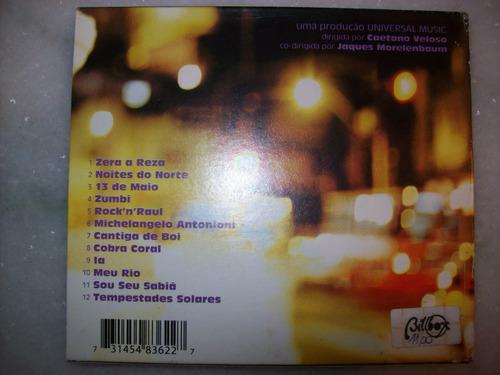 cd - caetano veloso - noites do norte - com luva - usado