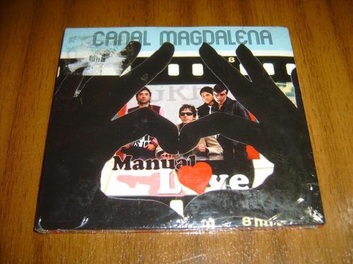 cd canal magdalena / manual love (digipack)  nuevo y sellado