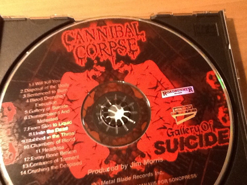 cd cannibal corpse - gallery of suicide  *raridade*