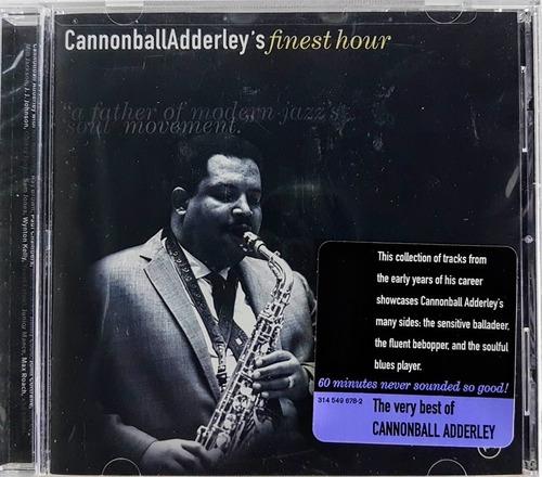 cd cannonball adderley - finest hour - imp lacrado bar code