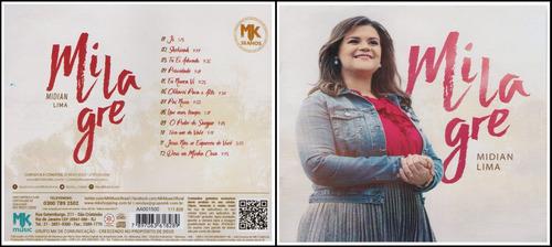 cd cantado + cd play-back midian lima - milagre (novo) 2017