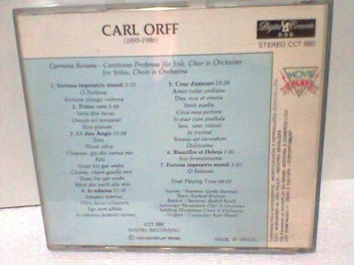 cd carl orff  @ carmina burana  -1989-   (frete grátis)