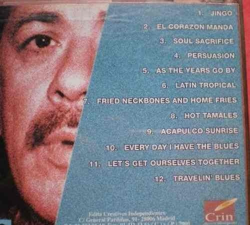 cd carlos santana (voces legendarias). rock fusion latina