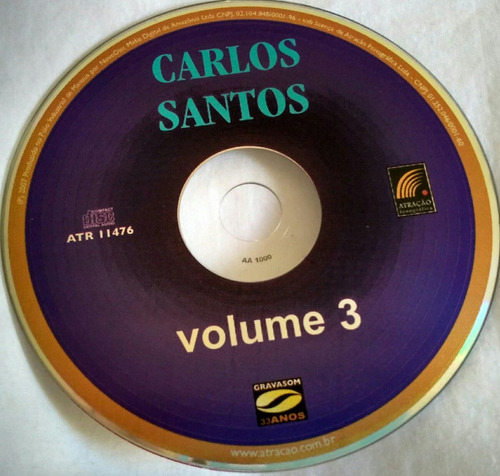 cd carlos santos vol.3 (hbs )