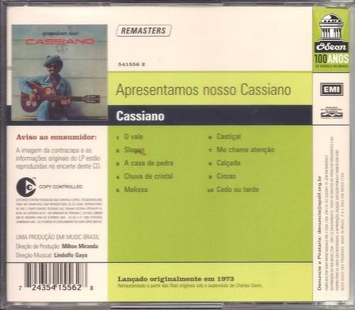 cd - cassiano: apresentamos nosso cassiano(1973)