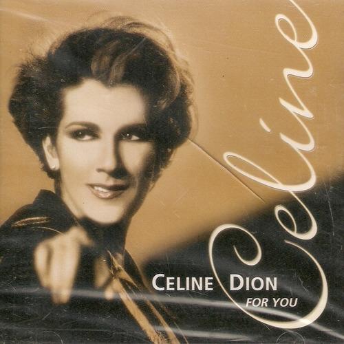 cd celine dion - for you - novo lacrado***