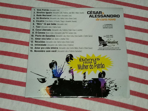 cd césar & alessandro - de cara nova ( promo )