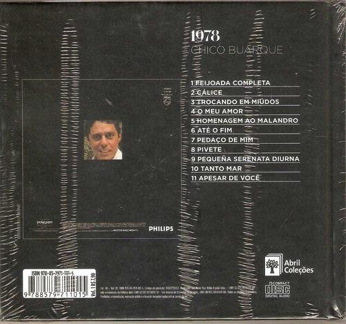 cd chico buarque - 1978 / abril coleções - novo***