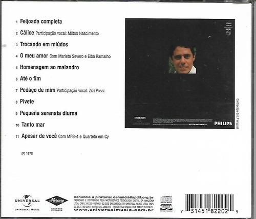 cd - chico buarque - 1978 - lacrado - frete gratis