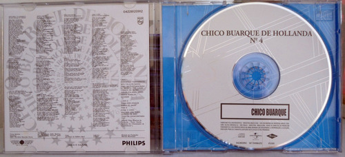 cd chico buarque de hollanda - nº 4 - impecável - novo- raro