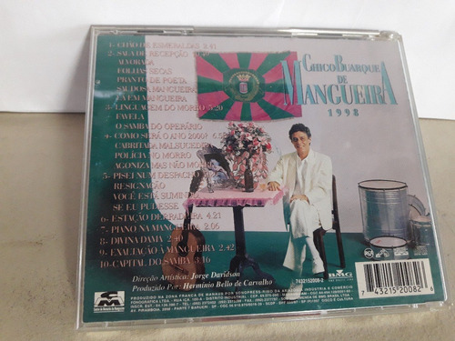 cd chico buarque de mangueira 1998 frete 11,00