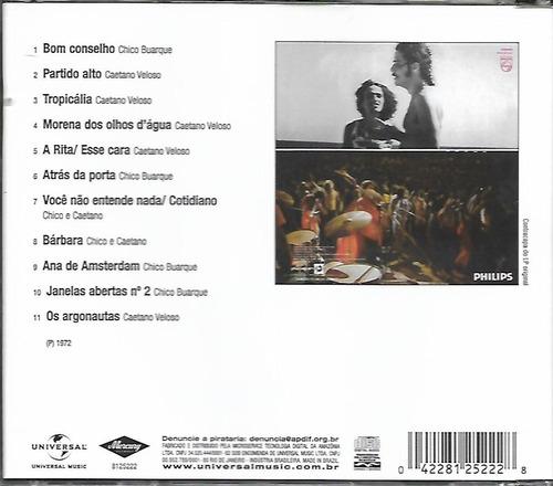 cd - chico buarque e caetano - juntos e ao vivo - lacrado