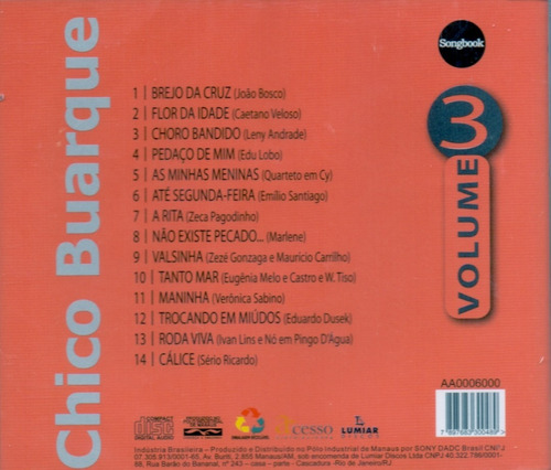cd chico buarque - vol.3 - novo***