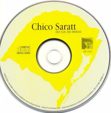 cd chico saratt do sul do brasil somente o cd
