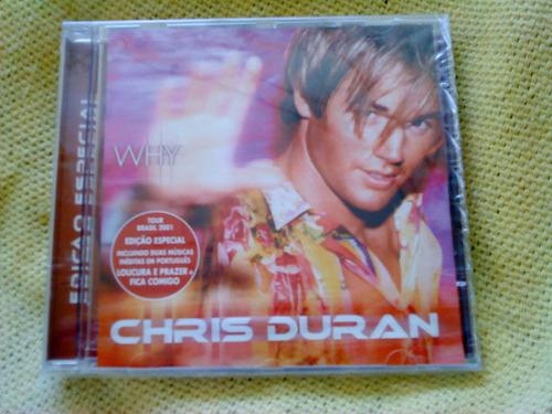 cd chris duran why 1ª edição especial 2001 raro lacrado