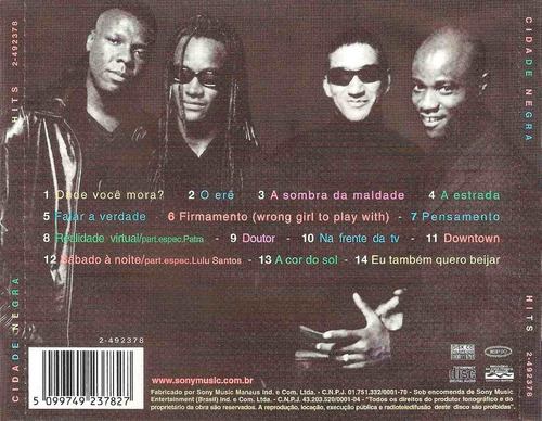 cd cidade negra - hits