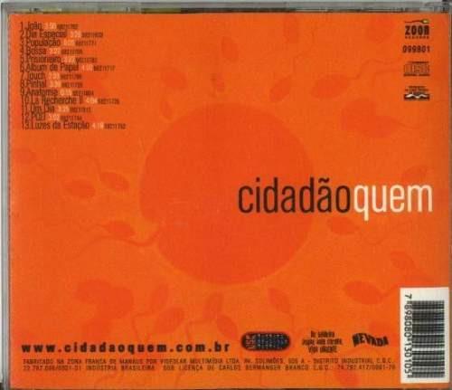 cd cidadão quem - spermatozoon - 1998